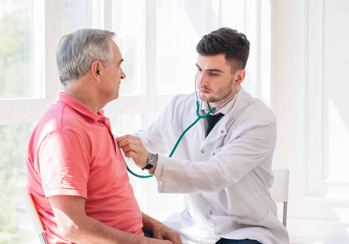 Senior,Man,Being,Examined,By,A,Doctor.